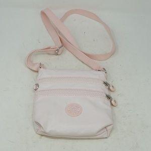 Kipling Cross Body Bag 3 Zippers Purse Pink